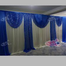 Curtains Wedding Decoration Popular Royal Blue Wedding Curtains Buy Cheap Royal Blue Wedding