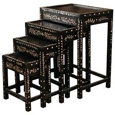 Nesting Tables Nesting Tables With Mother Of Pearl Inlay For Sale At 1stdibs