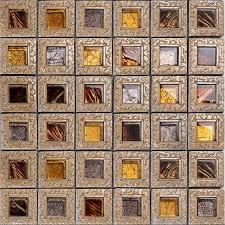crystal glass tiles for kitchen and bathroom brown mosaic glass block vintage tv background backsplash wall