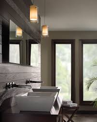 pendant lighting for bathroom. Bathroom Pendant Lighting Placement Casual Window On Plain Wall Paint Closed Plant Decor Floor And For A
