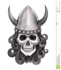 татуировка викингов черепа искусства иллюстрация штока иллюстрации