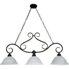 adria 3 light textured flat black island pendant with alabaster swirl glass