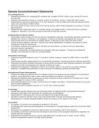 Examples Of Accomplishments On Resume Examples Of Resumes