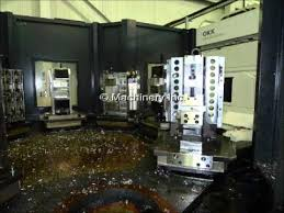machining center pallet. okk hm500s multi pallet horizontal machining center, fanuc 310is-mb control, 2009 center \