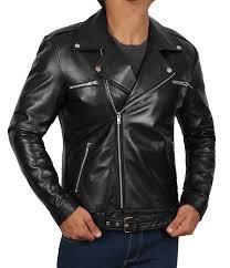 motorcycle mens leather jacket genuine lambskin biker black leather jackets for men at men s clothing