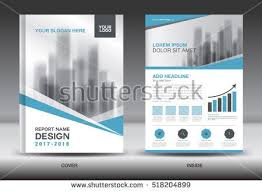 Blue Cover Annual Report Brochure Flyer Template Creative