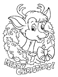 Small Picture Christmas reindeer Coloring Pages Coloringpages1001com