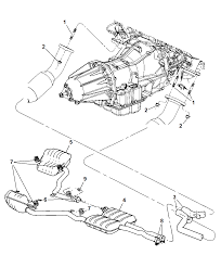 2006 dodge charger exhaust system thumbnail 1 2