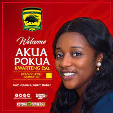 Akua Pokuaa Kwarteng Esq joins Asante Kotoko as head of Legal (Domestic) |  SportsWorldGhana