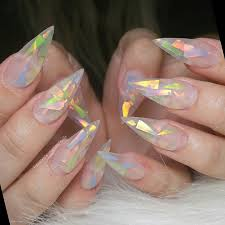 Mylar Nail Designs Pin By Mistylue On Fcgv Mylar Nails Cute Acrylic Nails Nails