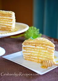 Medovik – Honey cake III Медовик with Cream Filling