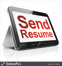 Send Resume On Tablet Pc Computer Stock Illustration I4323363 At