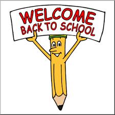 Clip Art: Cartoon Pencil w/ Welcome Back To School Sign Color I  abcteach.com | abcteach