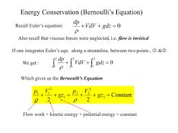 energy conservation bernoulli s equation