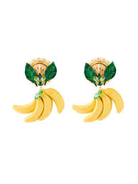 dolce gabbana banana clip on earrings women jewellery dolce and gabbana light blue