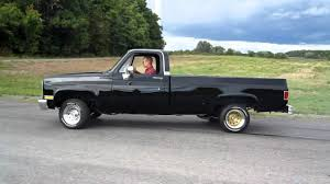 86 Chevy C10 Burnout - YouTube