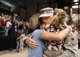 Image result for real life veterans coming home