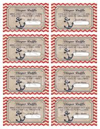 ahoy its a boy nautical diaper raffle tickets printable baby game nautical baby shower diaper raffle tickets