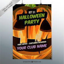 halloween party flyer template free editable halloween party flyer template vector free download