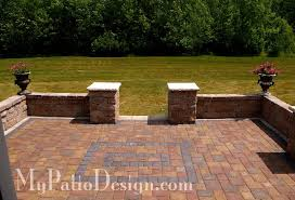 brick patio wall designs