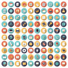 Google Flat Design Icons Flat Design Icons For Business And Finance Vector Eps10 With