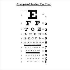Snellen Chart Pdf Sample Eye Chart Template 11 Free Documents Download In Pdf