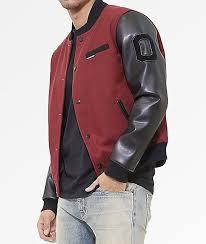 members only burdy wool varsity jacket