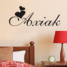 easy to apply easy to remove without leaving any sticky residue easily adhesive straight to the wall door mirror or any smooth surface you want on is vinyl wall art easy to remove with d133 personalized name customer flying heart love life art wall