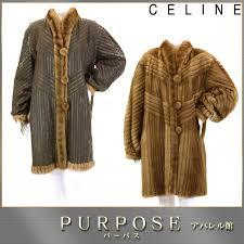 celine celine mink fur coat fur outer reversible lady s used apparel