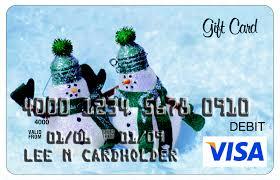 visa gift card holiday snowmen
