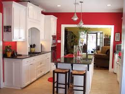 White And Red Kitchen Red Kitchen Cabinets Stainless Steel Under Cabinet Range Hood