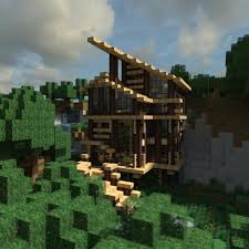 a collection of wooden minecraft houses with a modern architectural style rendered out using chunky created by martijnie texture pack soartex fanver