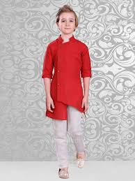 Latest Button Design Stylish Side Buttons Kurta And Off White Bottom Boys Party