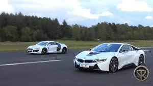 Drag Race Bmw I8 Vs Audi R8 V8 Youtube