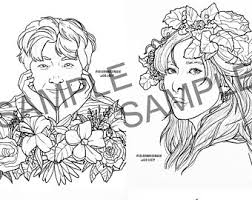 At 8.5 x 11 inches, this book is the perfect size for artists and. Kpop Coloring Page Etsy