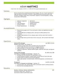 free office samples general manager resume examples free to try today