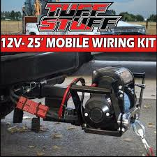 wiring winch to trailer plug wiring image wiring 2 gauge 25 u2032 ft portable mobile winch wiring kit w quick on wiring winch to