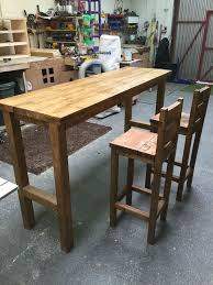 breakfast bars furniture. Fine Breakfast Hand Made Breakfast Bar And 2 Stools To Match In Home Furniture U0026 DIY  Furniture Stools Breakfast Bars  EBay For Bars Furniture