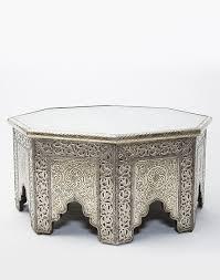 white metal furniture. white metal moroccan octagonal coffee table furniture d
