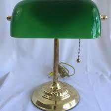 bankers desk lamp sydney vintage bankers lamp green glass