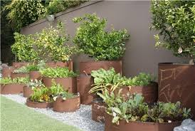 Small Picture A raised bed garden constructed of industrial steel pipes Z