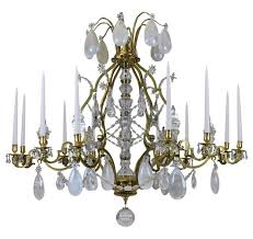 large antique louis xiv gilt bronze rock crystal chandelier for at pamono