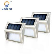 Solar Powered Outdoor Lights For Steps 10 Pieces Solar Step Lights Led Solar Powered Stair Lights