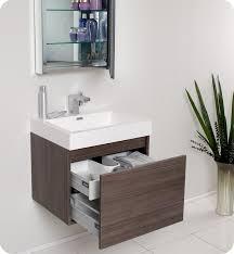 modern bathroom medicine cabinets.  Modern Fresca Nano Gray Oak Modern Bathroom Vanity W Medicine Cabinet Intended Cabinets
