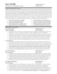 Confortable Resume For Management Experience With Additional Asset