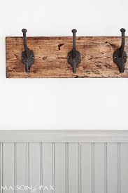 Strong Coat Rack DIY Rustic Towel Rack Towels Spaces And Coat Racks 11