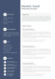 Sample Resume Templates Doc Printable Marketing Manager Word Job