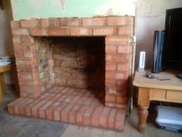 brick fireplace built in northampton 2