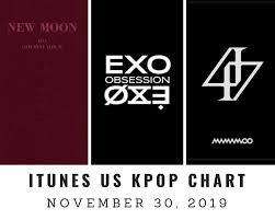 Itunes Us Itunes Kpop Chart November 30th 2019 2019 11 30
