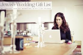 a cool jewish wedding gift list with prezola